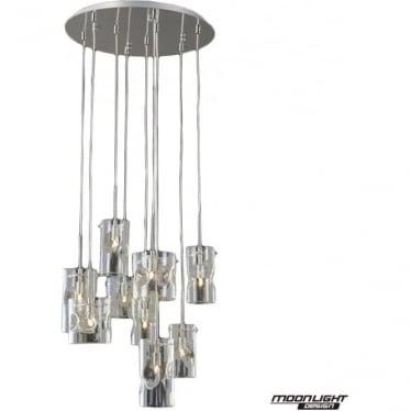 Venus 9 Light Pendant Champagne Tint Dimmable