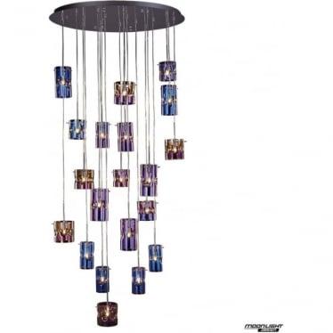 Venus LED 20 light pendant - Translucent multi - Dimmable