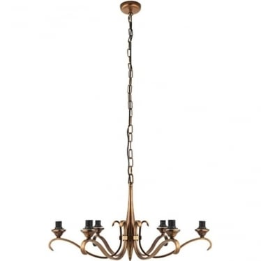Columbia 6 light pendant - Antique brass