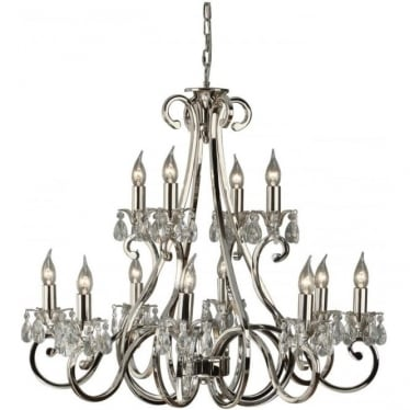 Oksana 12 light pendant - Nickel