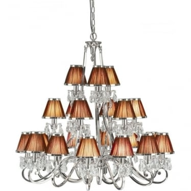 Oksana 21 light pendant - Nickel & chocolate shades