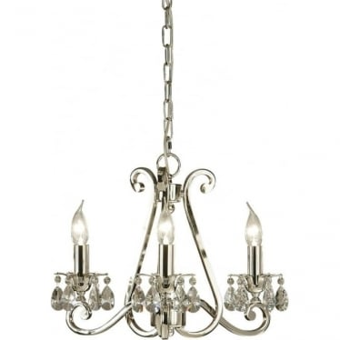 Oksana 3 light pendant - Nickel