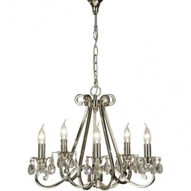 Oksana 5 light pendant - Nickel