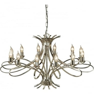 Penn 12 light pendant - Nickel