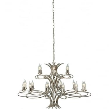 Penn 18 light pendant - Nickel