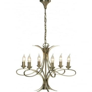Penn 6 light pendant - Brushed brass