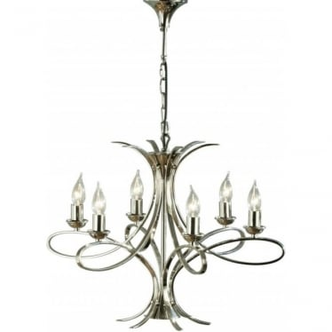 Penn 6 light pendant - Nickel