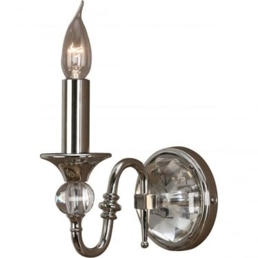 Polina single wall light fitting - Polished nickel