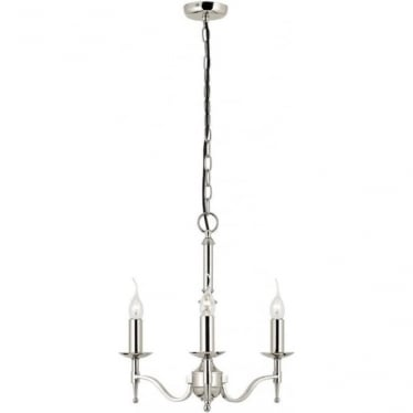 Stanford 3 light pendant - Nickel
