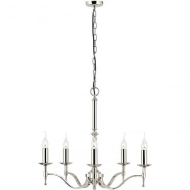Stanford 5 light pendant - Nickel