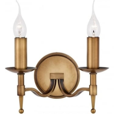 Stanford twin wall fitting - antique brass