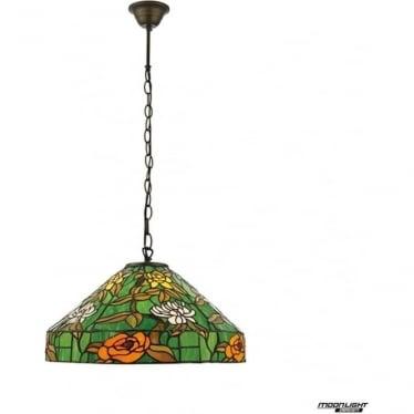 Tiffany Glass Agapantha medium single light pendant