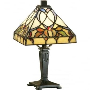 Tiffany Glass Alcea mini table lamp