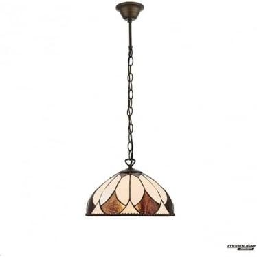 Tiffany Glass Aragon Small single light pendant