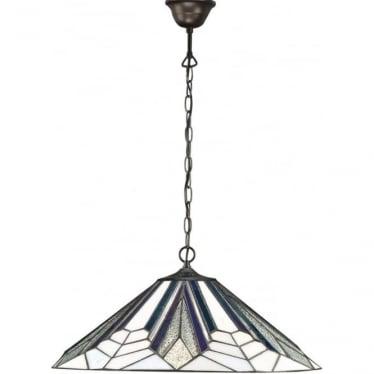 Tiffany Glass Astoria Large single pendant