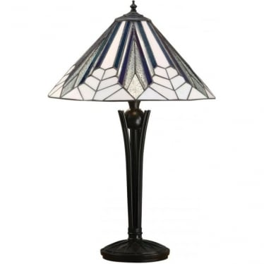 Tiffany Glass Astoria Medium Table Lamp