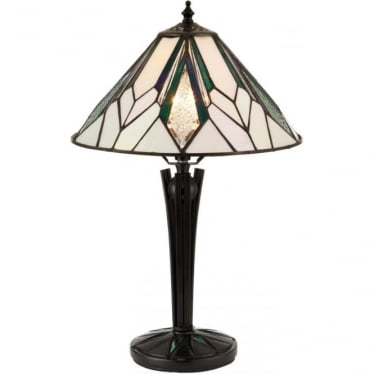 Tiffany Glass Astoria Small Table Lamp
