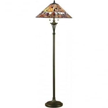 Tiffany Glass Bernwood Floor Lamp