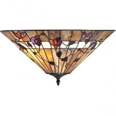 Tiffany Glass Bernwood medium 2 light flush fitting
