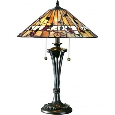 Tiffany Glass Bernwood medium table lamp
