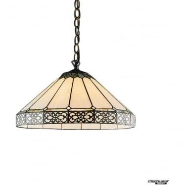 Tiffany Glass Boleyn Medium single light pendant