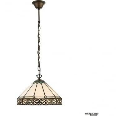 Tiffany Glass Boleyn small single light pendant