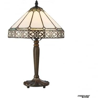 Tiffany Glass Boleyn small table lamp