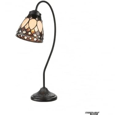 Tiffany Glass Brooklyn swan neck table lamp