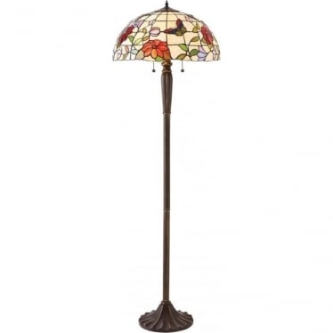 Tiffany Glass Butterfly floor lamp