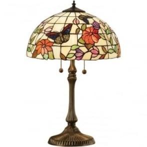 Tiffany Glass Butterfly medium table lamp