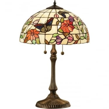 Tiffany Glass Butterfly medium table lamp