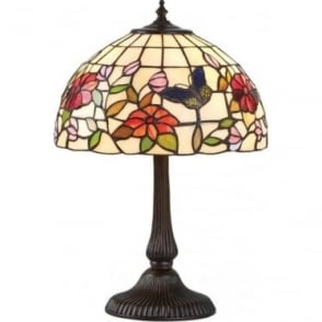 Tiffany Glass Butterfly small table lamp