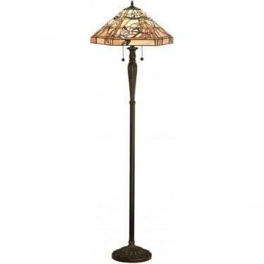 Tiffany Glass Clematis floor lamp