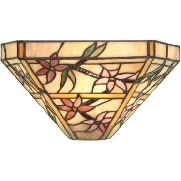 Tiffany Glass Clematis single wall fitting