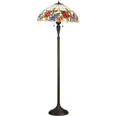 Tiffany Glass Country border floor lamp