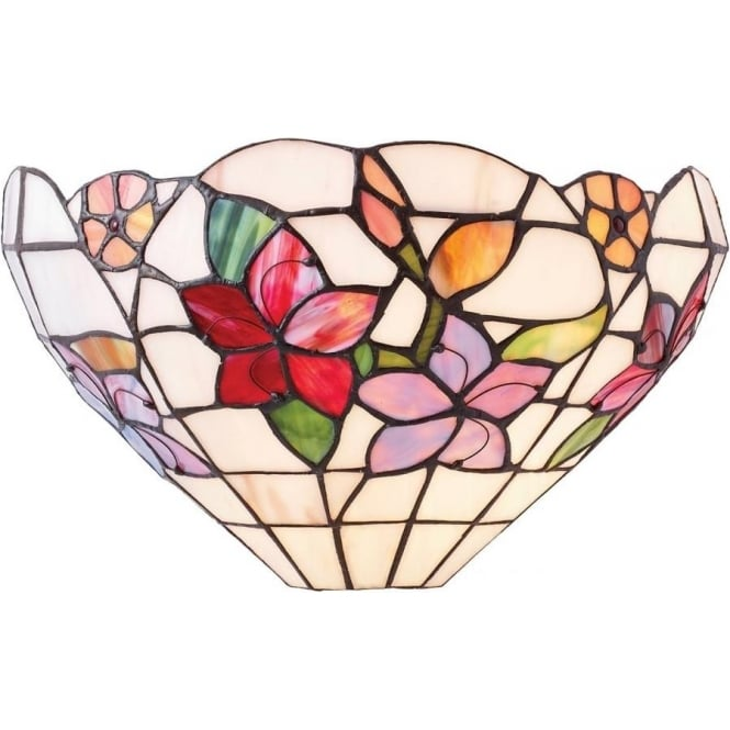 Interiors 1900 Tiffany Glass Country border single wall fitting