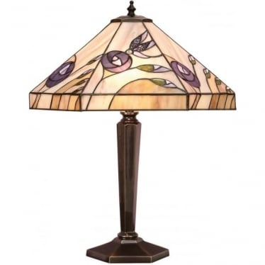 Tiffany Glass Damselfly medium table lamp