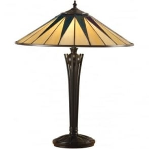 Tiffany Glass Dark star large table lamp