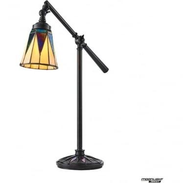 Tiffany Glass Dark star task table lamp