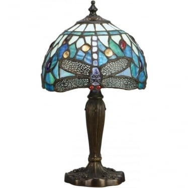 Tiffany Glass Dragonfly blue intermediate table lamp
