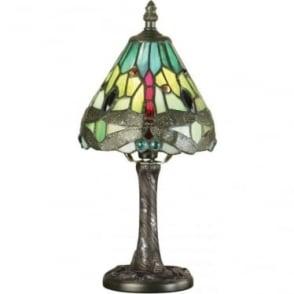 Tiffany Glass Dragonfly green mini table lamp