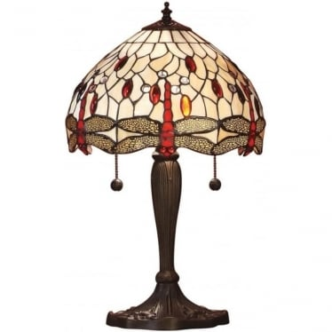 Tiffany Glass Dragonfly small table lamp