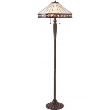 Tiffany Glass Fargo floor lamp