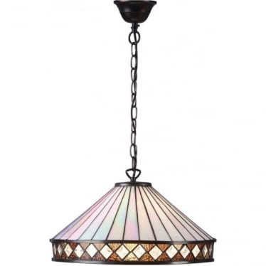 Tiffany Glass Fargo large single light pendant