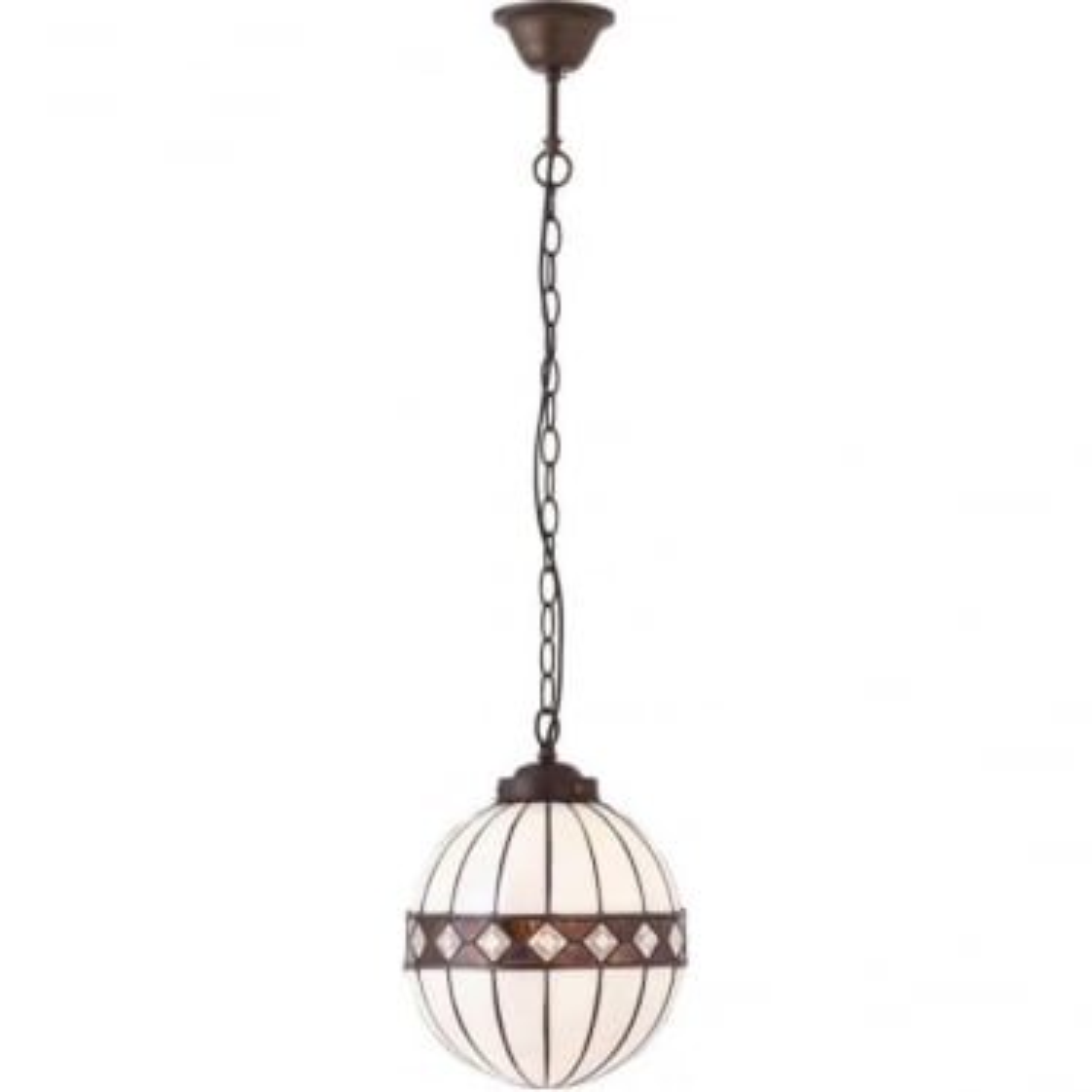 Tiffany Glass Fargo small globe single pendant