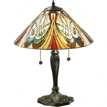 Tiffany Glass Hector medium table lamp