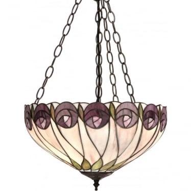 Tiffany Glass Hutchinson medium inverted 3 light pendant