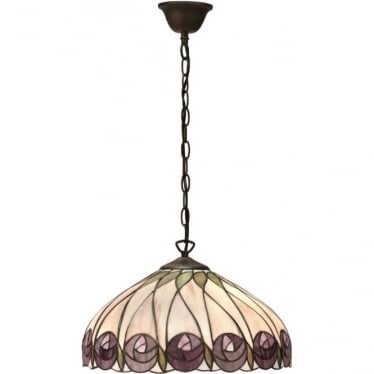 Tiffany Glass Hutchinson medium single light pendant