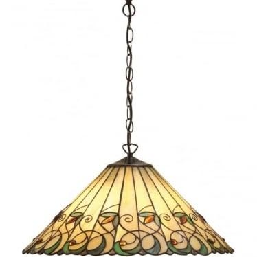 Tiffany Glass Jamelia large 3 light pendant