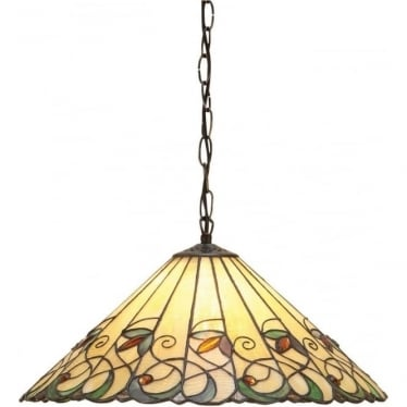 Tiffany Glass Jamelia medium single light pendant